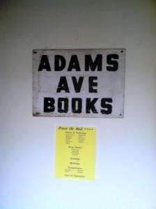 adams ave books