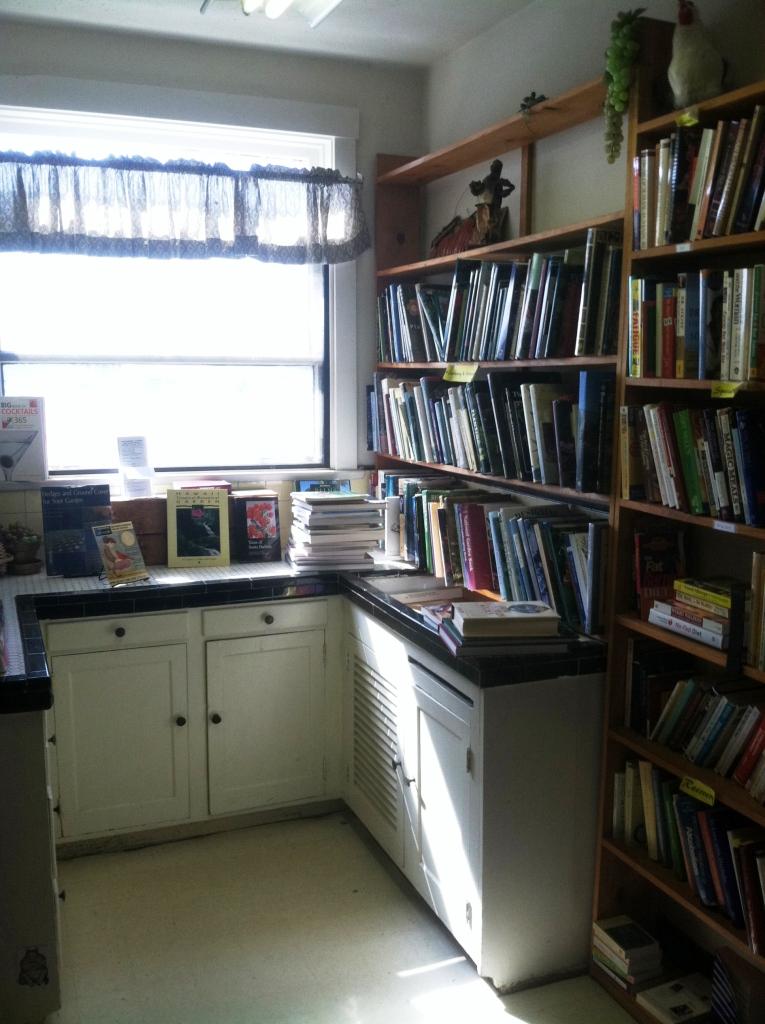 cookbooks in kitchen
