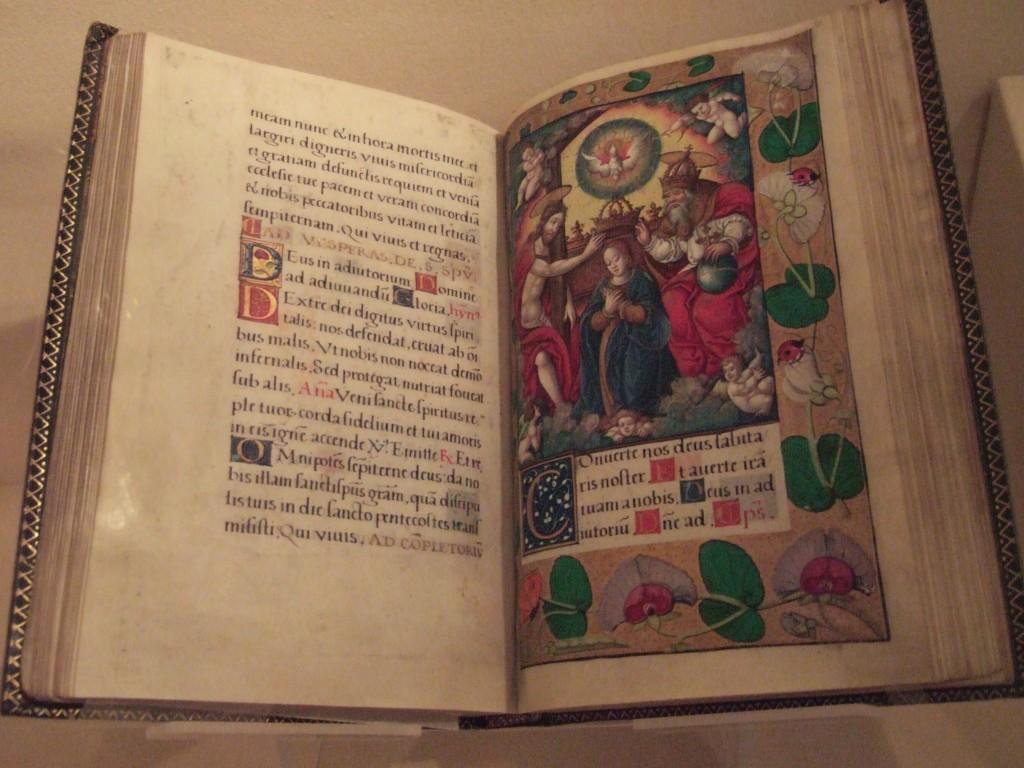 illuminated book open