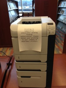 sequester printer