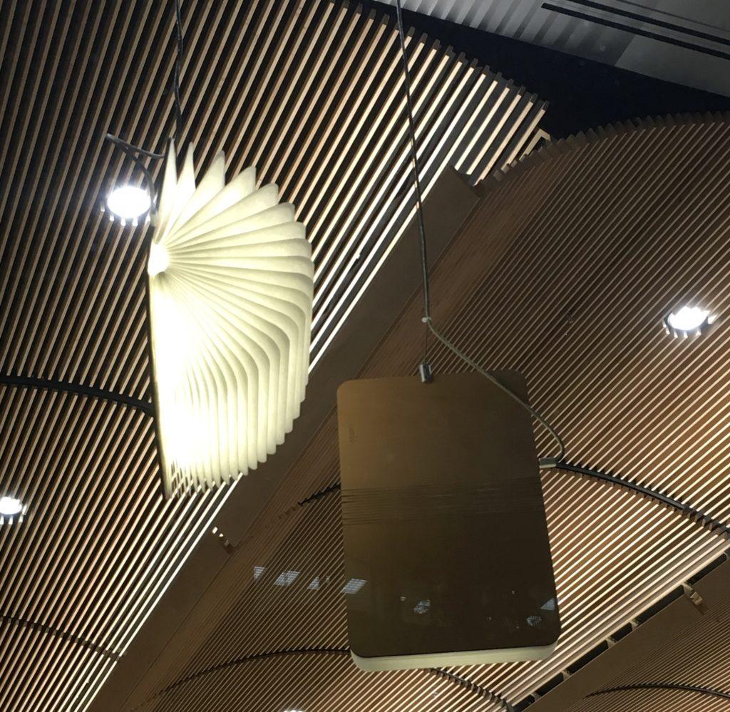 Book lamps.