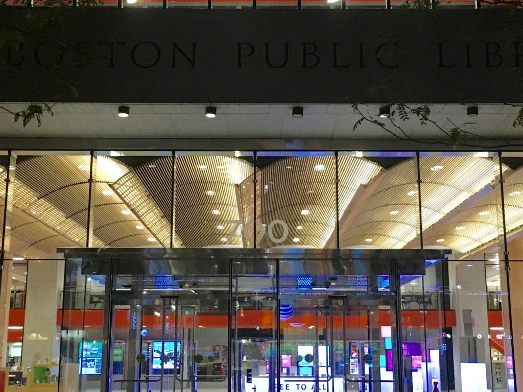 Entrance to the Johnson Building on Boyleston Street.